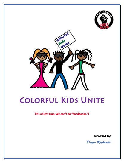 Colorful Kids Unite Fight Book Cover