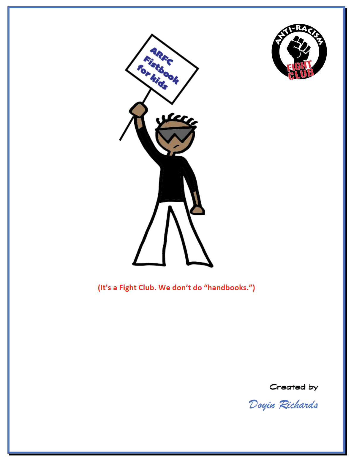 Anti-Racism Fight Club Fistbook for Kids
